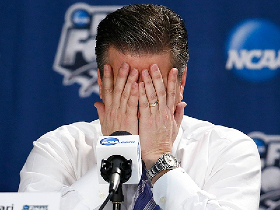 John Calipari's Wildcats have had some can't watch moments.