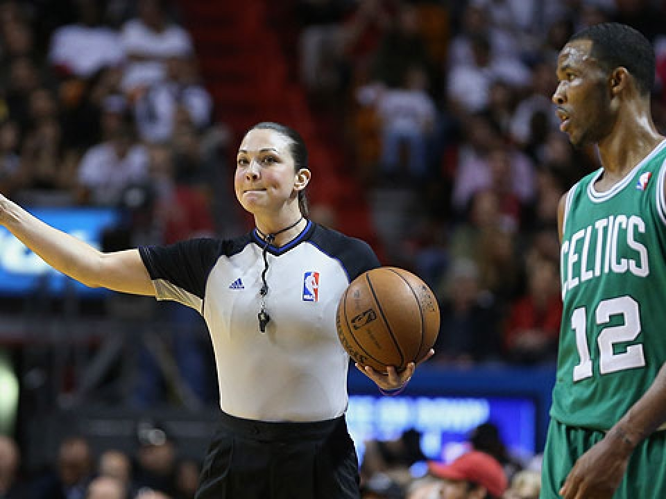 Lauren Holtkamp refereed six NBA games last season as a non-staff official.
