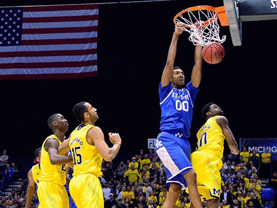 Marcus Lee came out of nowhere to score 10 big points for Kentucky against Michigan.