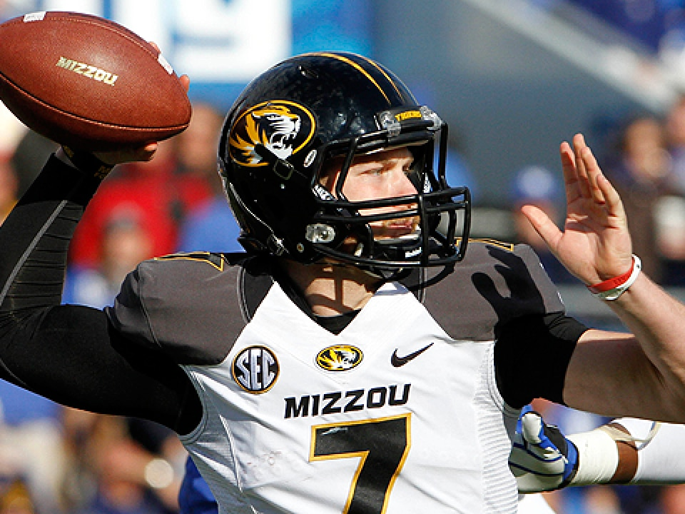 Missouri quarterback Maty Mauk passed for 1,071 yards last season.