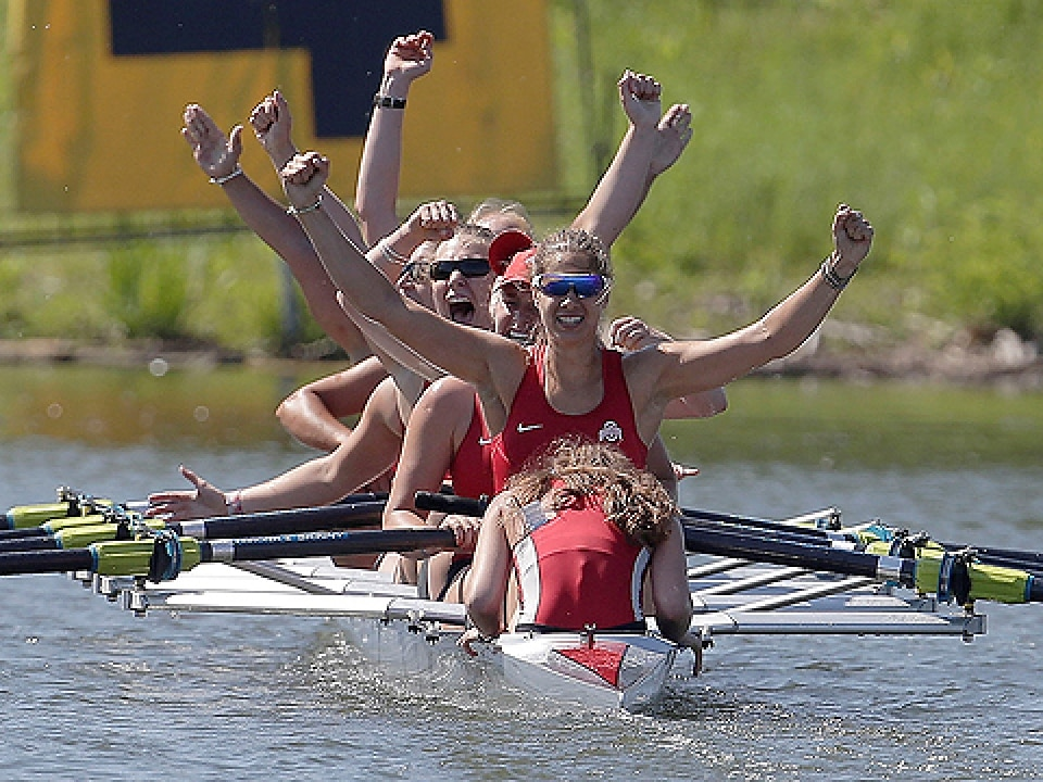 Ohio State claimed individual national titles in the first and second varsity eights.