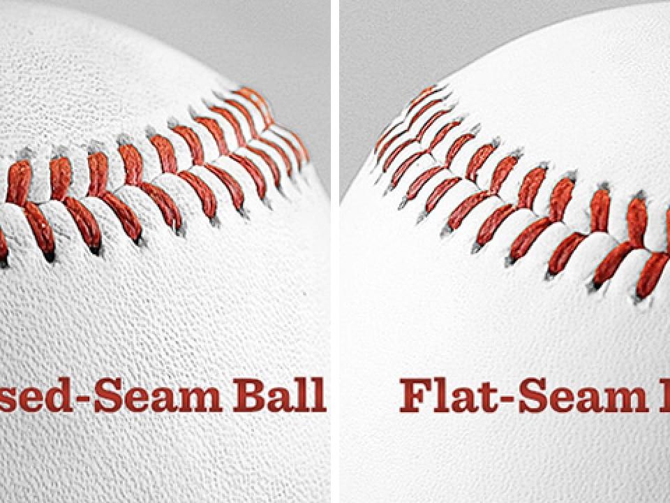 Raised Seam Flat Seam Baseballs