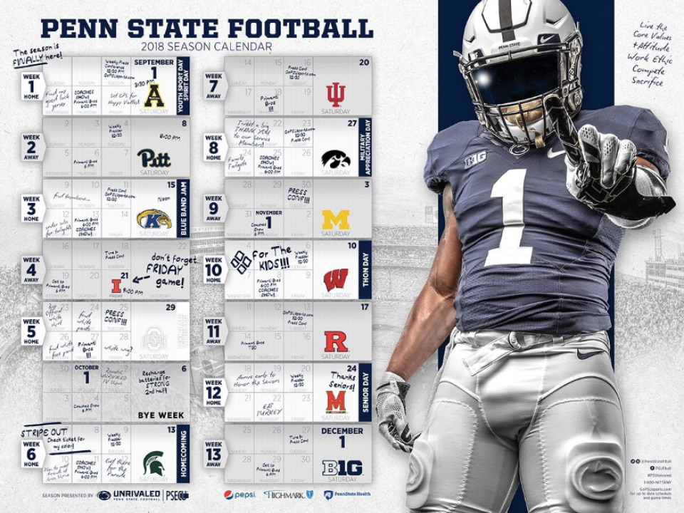 Here Are The Best 2018 College Football Schedule Posters