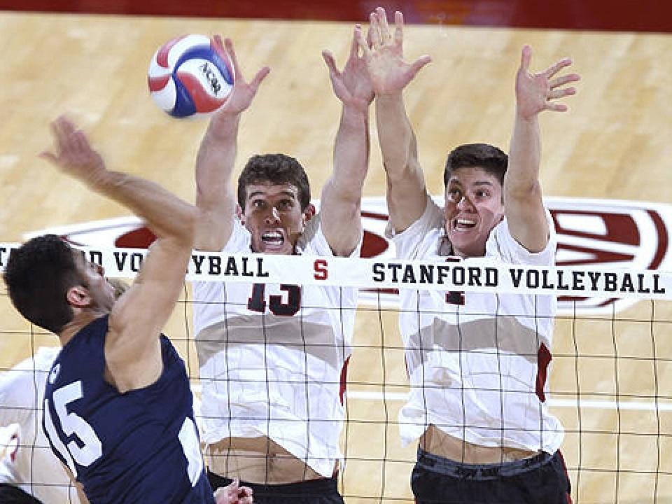 Stanford's Eric Mochalski and Conrad Kaminski