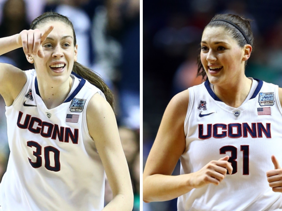 Notre Dame didn't have an answer for Connecticut's Breanna Stewart, left, and Stefanie Dolson.