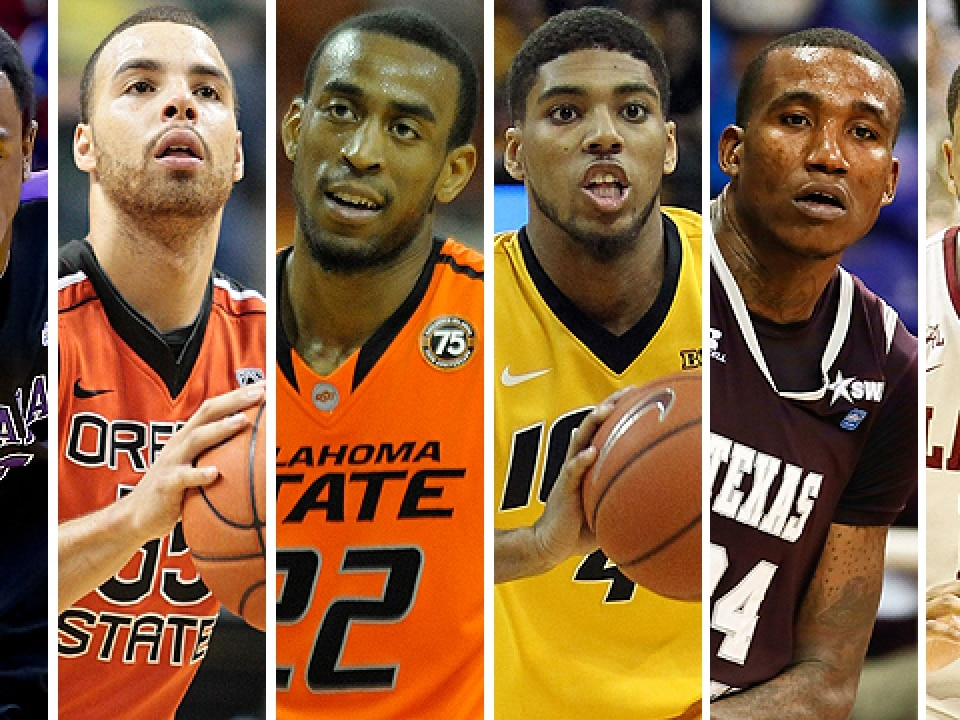 From left, Antoine Mason, Roberto Nelson, Markel Brown, Roy Devyn Marble, Aaric Murray and Trevor Releford.