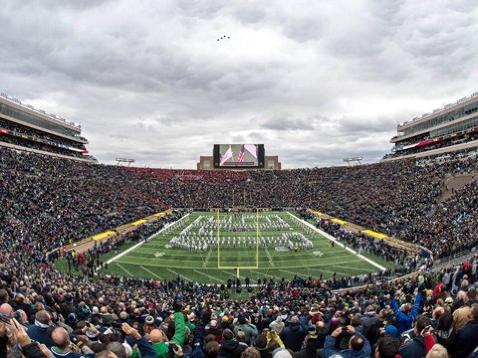 b15fffc25 2019 NHL Winter Classic set for Notre Dame Stadium. Share. NEW YORK -- The  2019 Bridgestone ...
