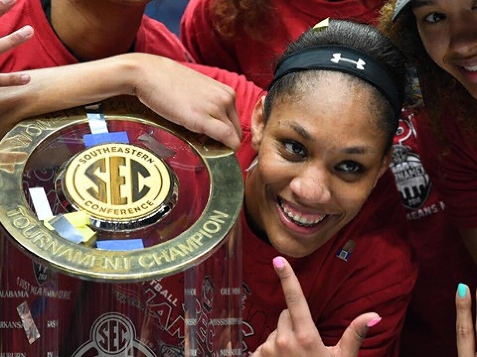 south carolina s a ja wilson wins naismith women s basketball player