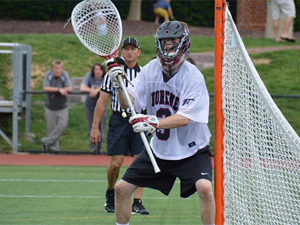 Ted DiSalvo made five of his 11 saves in the fourth quarter.