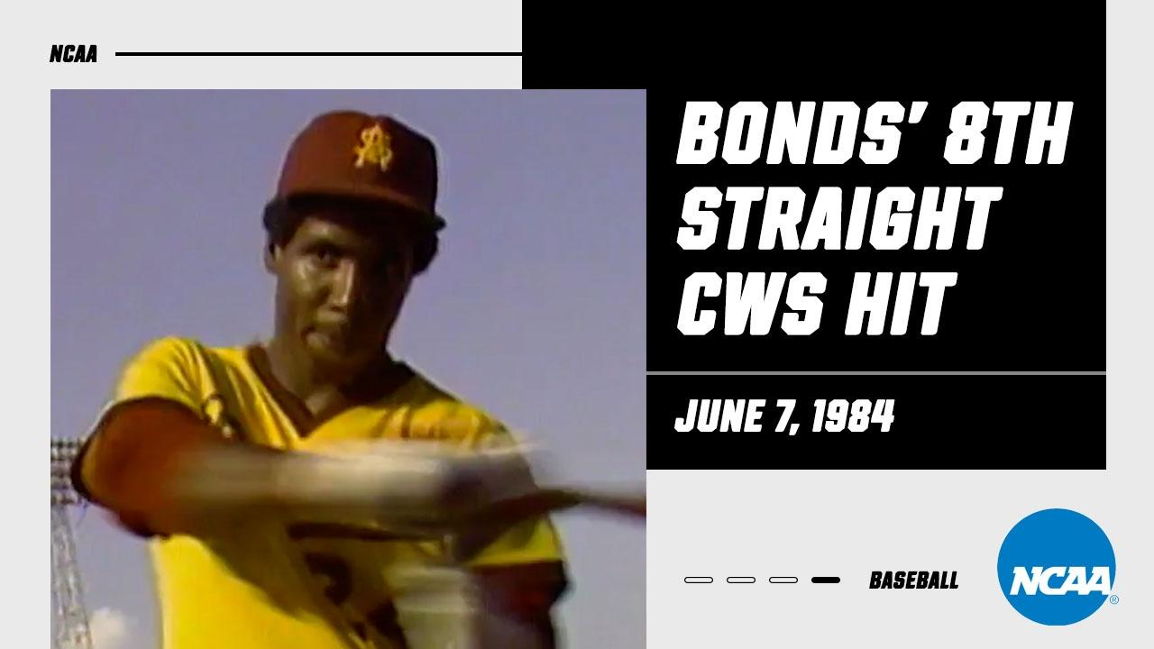 Barry Bonds ties College World Series record with 8th straight hit in 1984