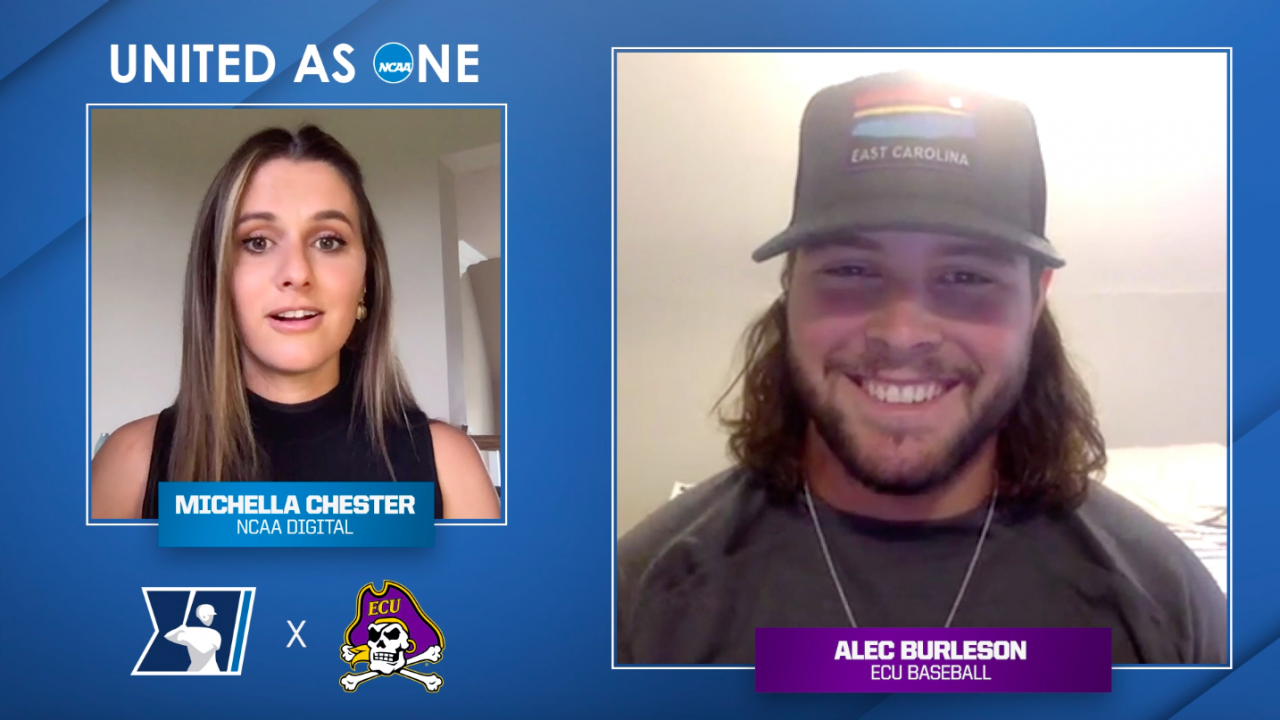 #UnitedAsOne: East Carolina's Alec Burleson on hair tips and why he chose East Carolina