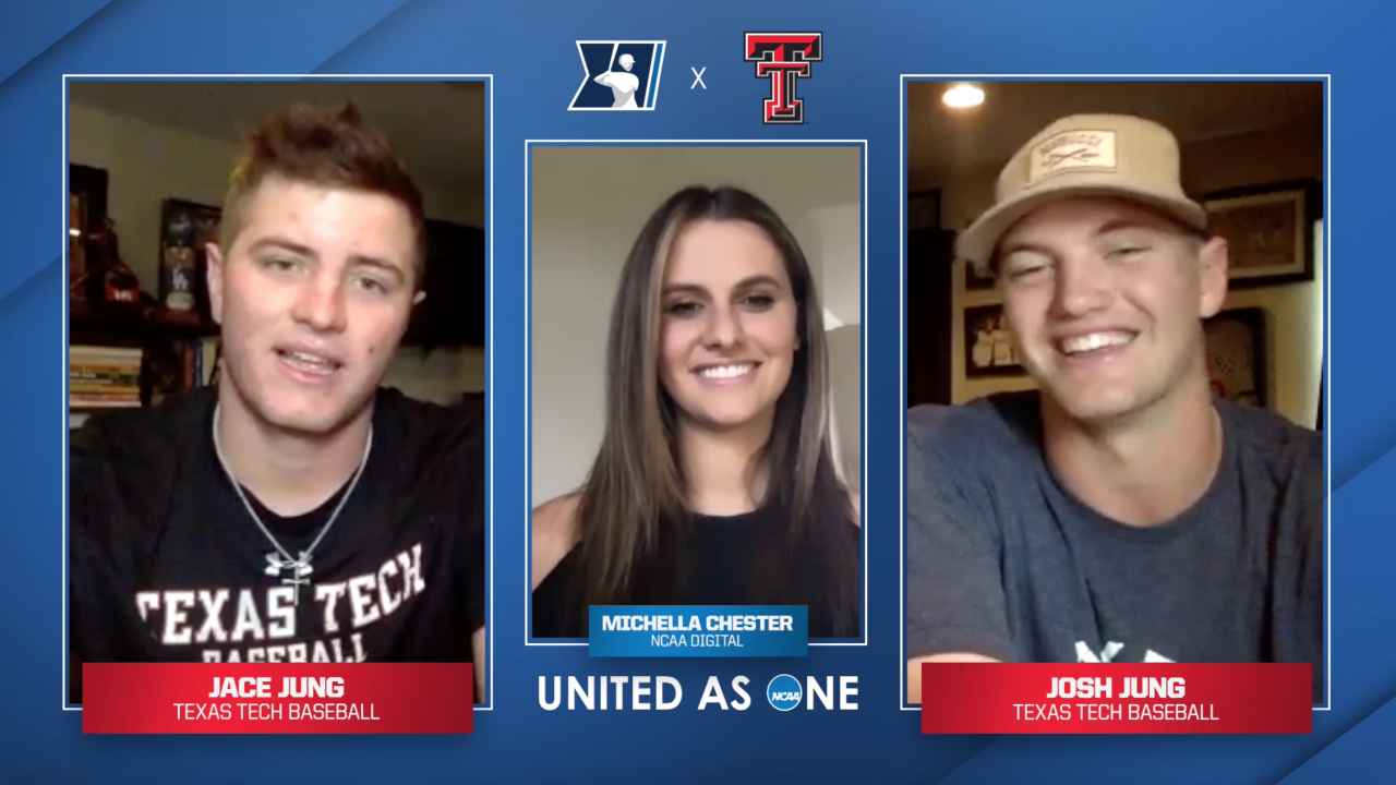 #UnitedAsOne: Texas Tech baseball's Jace and Josh Jung talk sibling rivalry, learning the game together