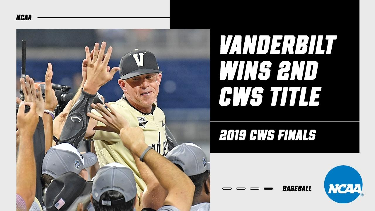 Relive Vanderbilt baseball's second title during the 2019 CWS finals
