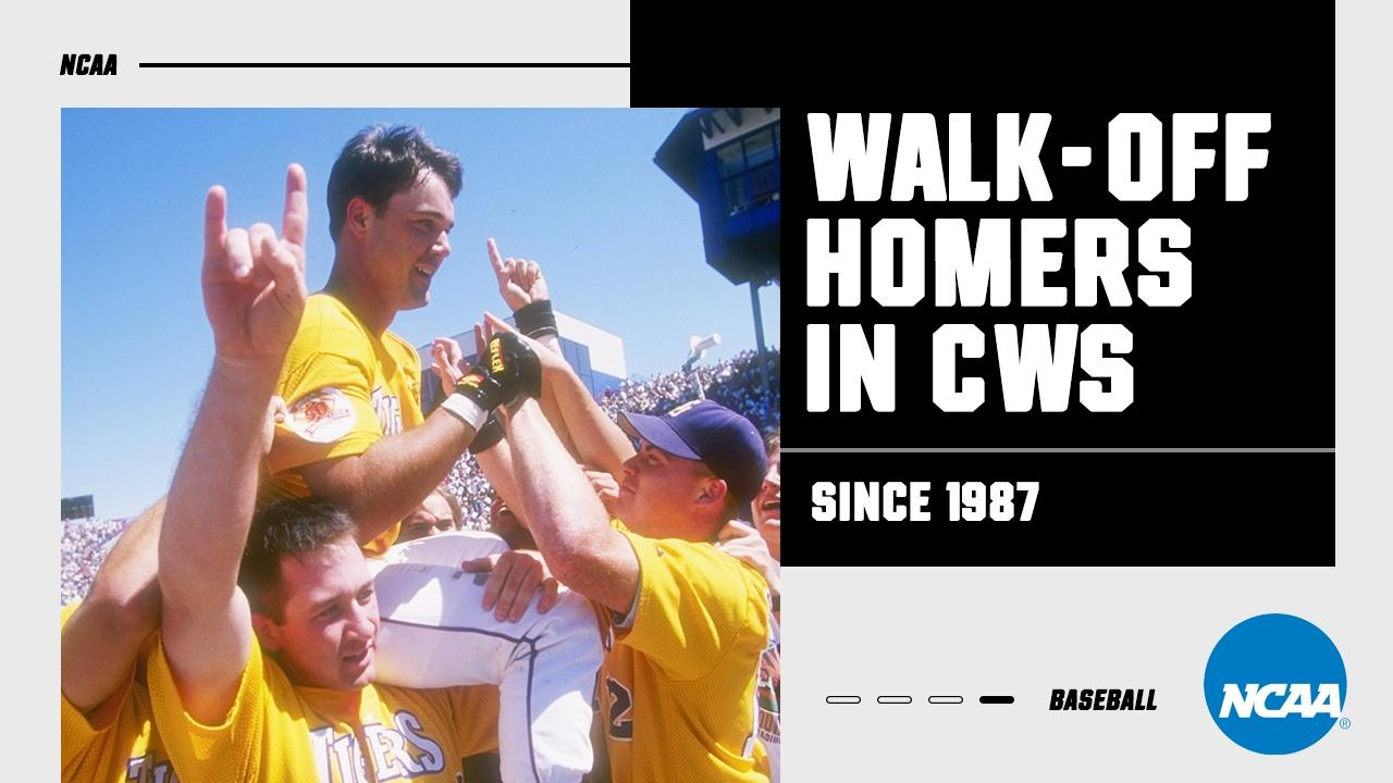 Watch every College World Series walk-off homer since 1987