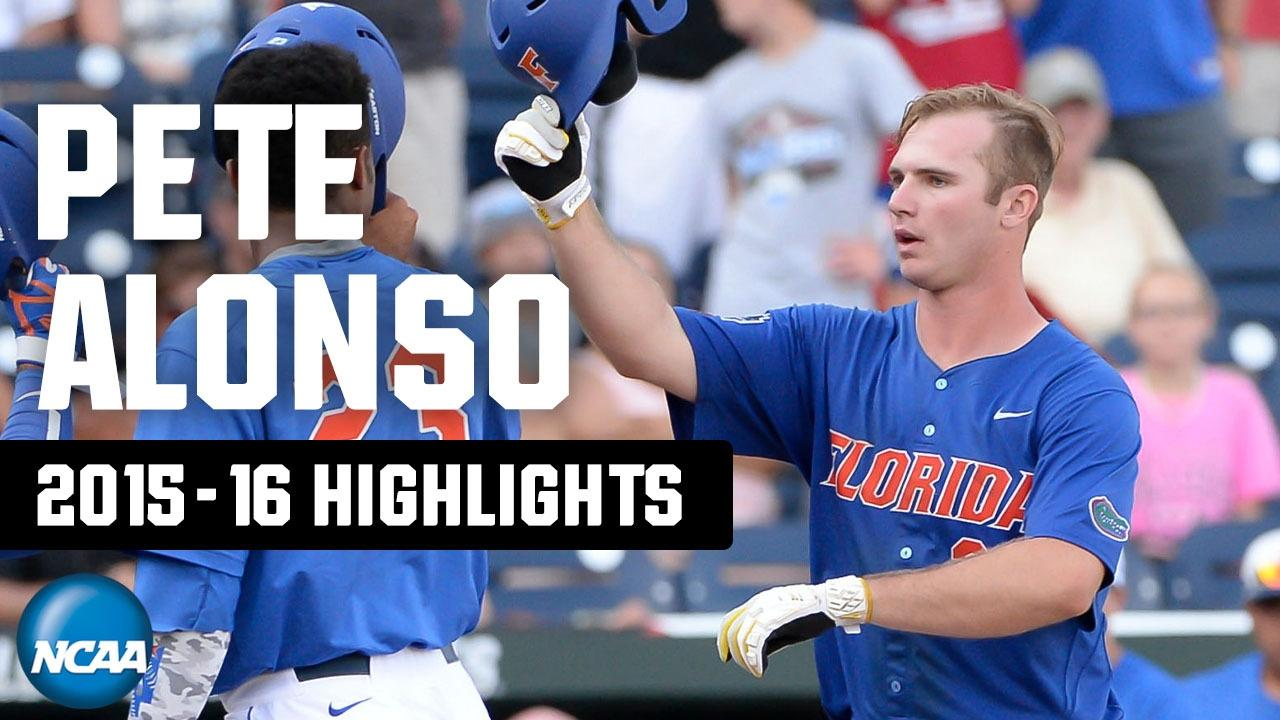 Pete Alonso's top highlights from College World Series and NCAA tournament play