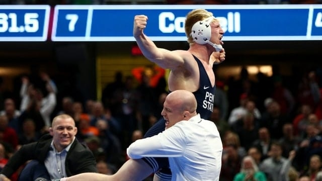Image result for ncaa wrestler with a topknot