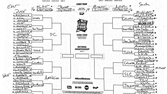 It is a photo of Nit Bracket Printable with college