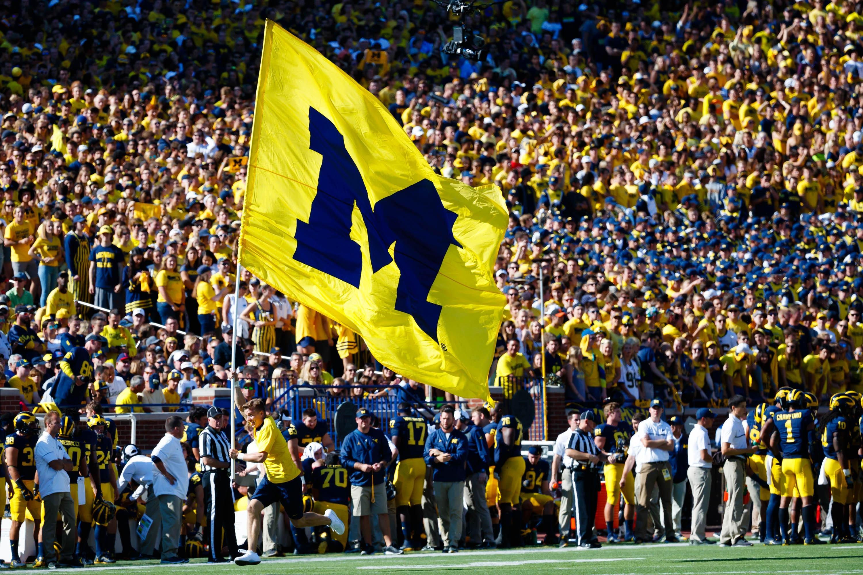 Michigan football flag