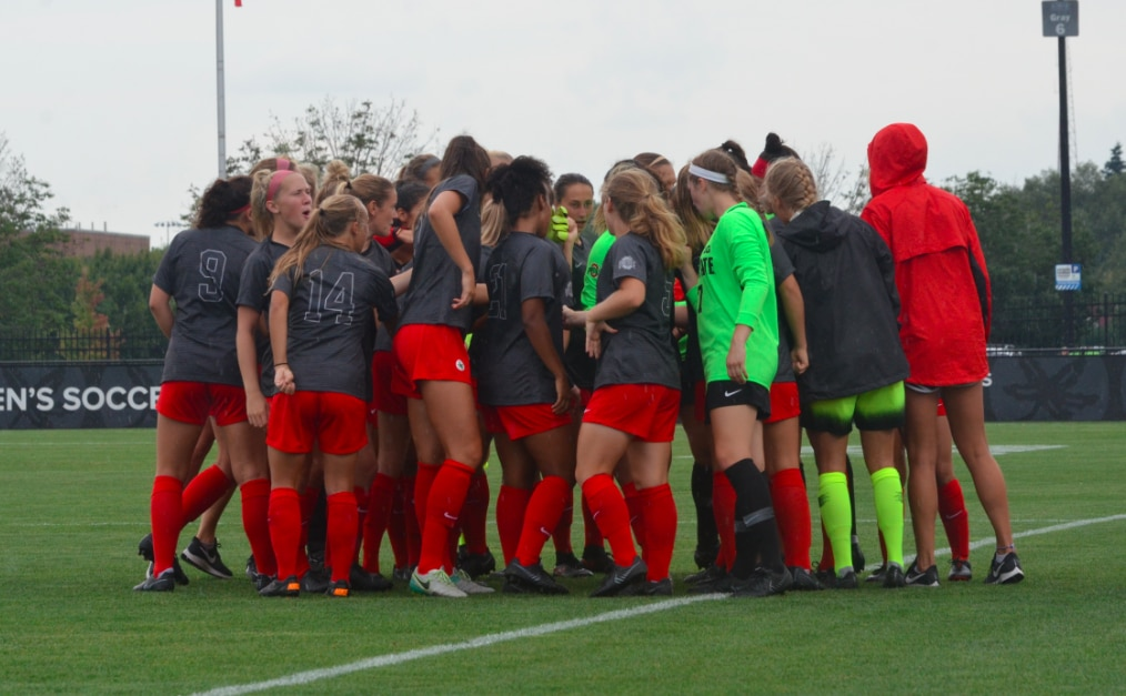 Ohio State women's soccer defeats No. 21 Northwestern.