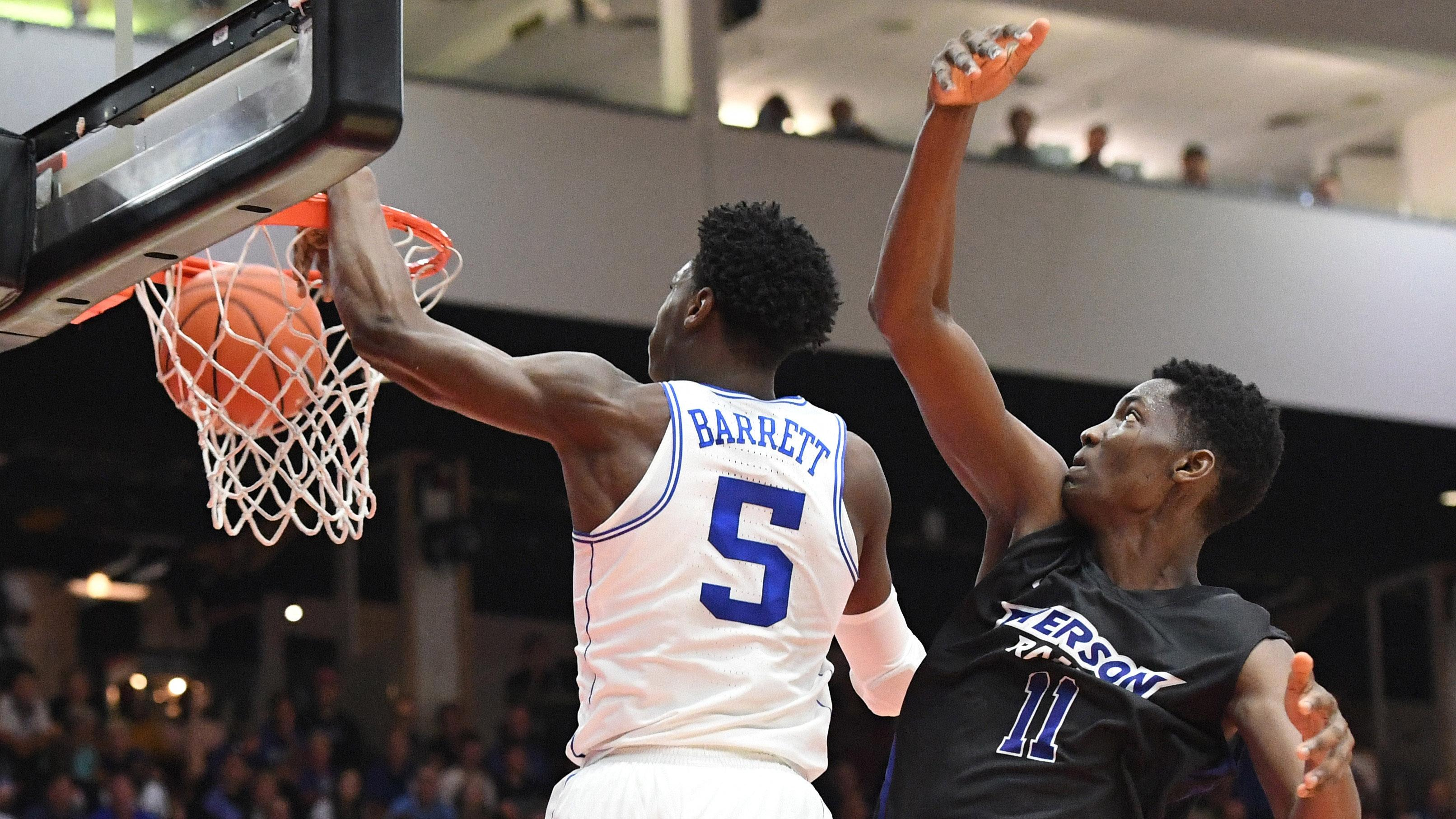 Duke's R.J. Barrett dunks