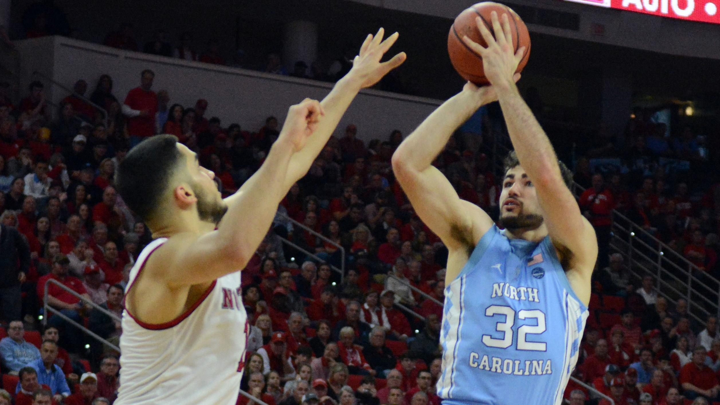 North Carolina's Luke Maye takes a jumper