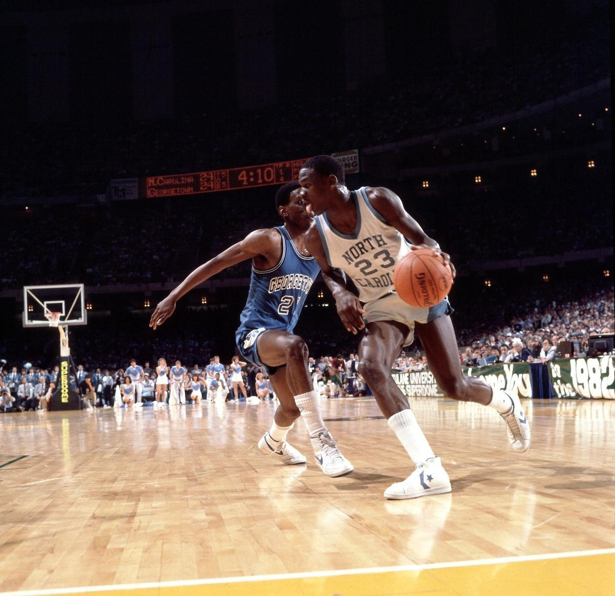 Michael Jordan in the 1982 Final Four.