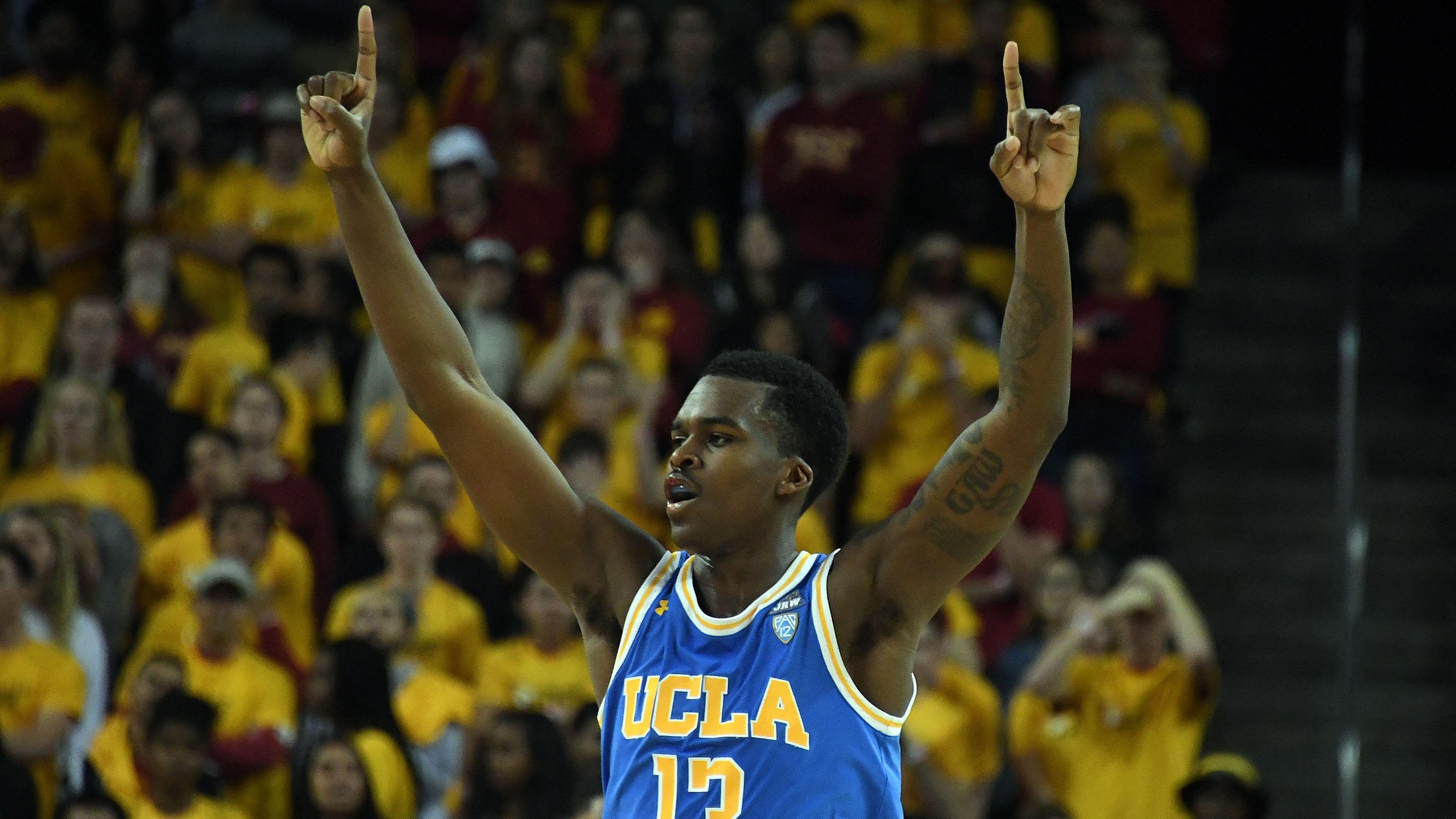 UCLA's Kris Wilkes celebrates