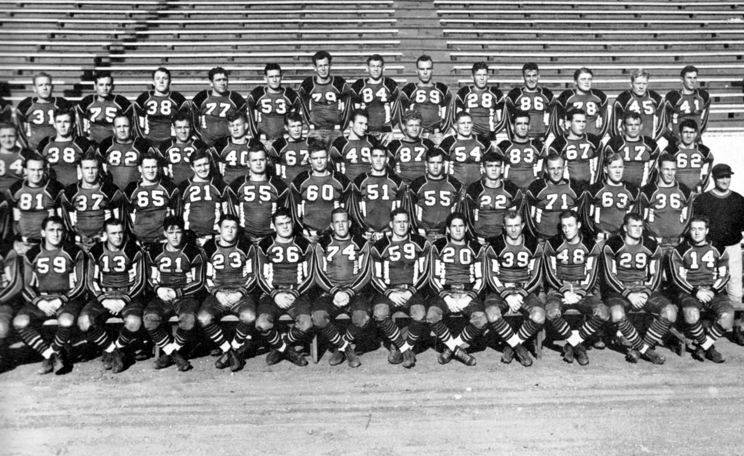 1939 Texas Tech football team photo