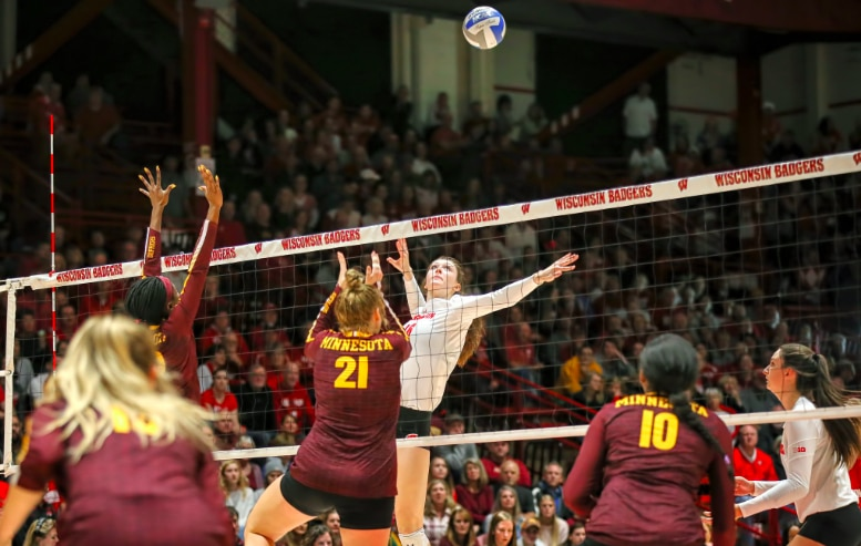 The slide play is one of the most effective offensive plays in NCAA volleyball