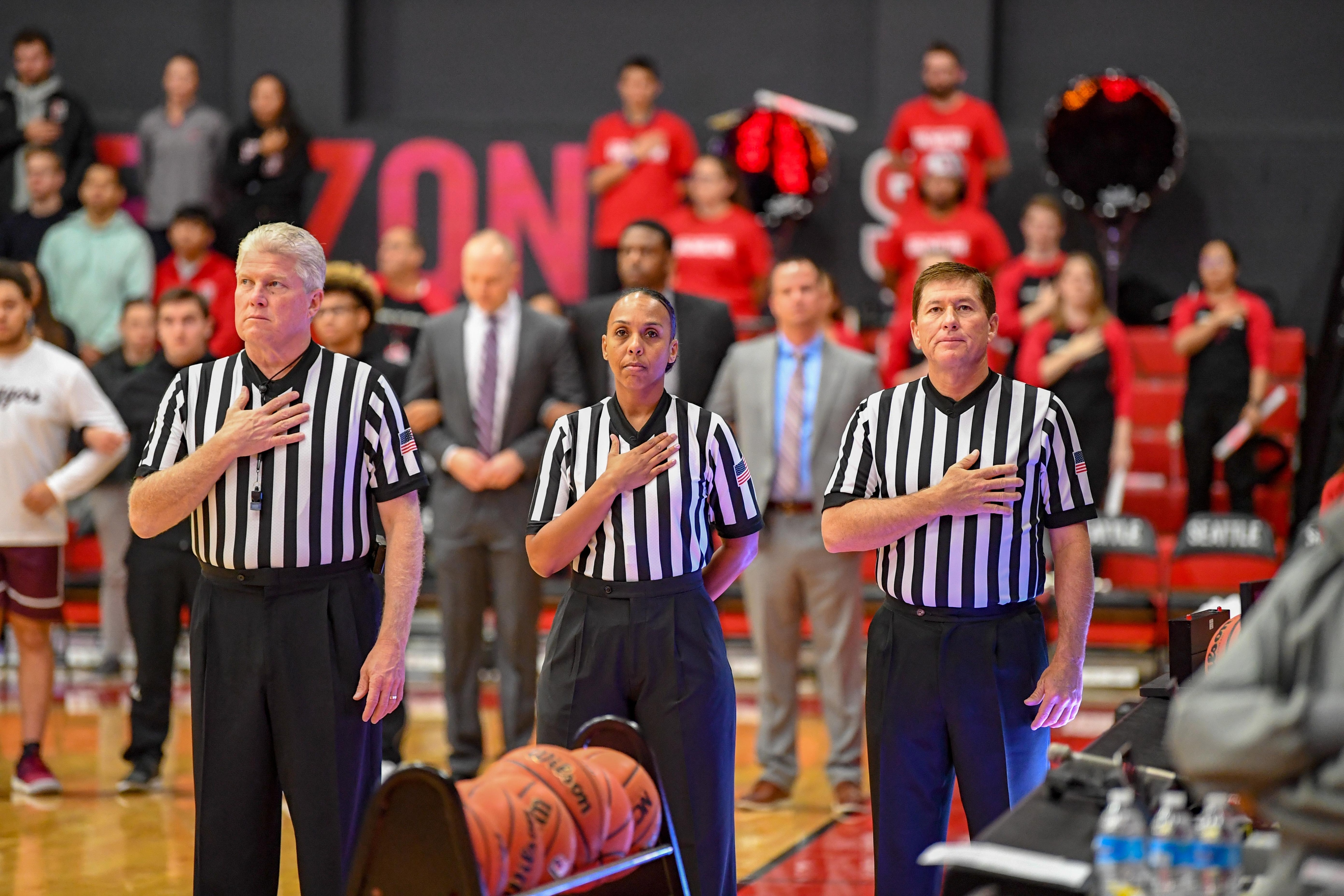 Crystal Hogan is DI men's basketball's only female referee