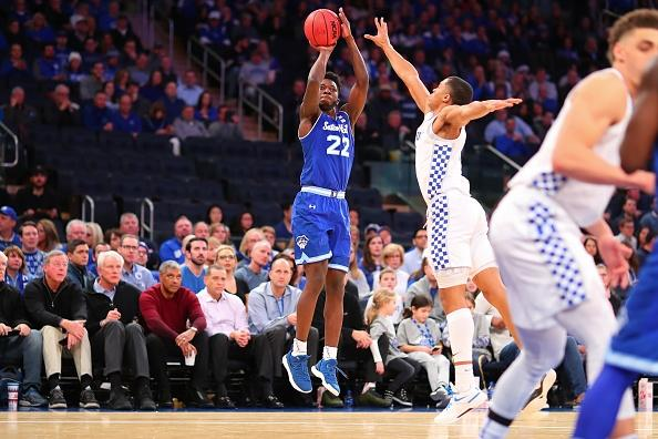 Seton Hall's Myles Cale hit a go-ahead 3-pointer in overtime to help upset Kentucky