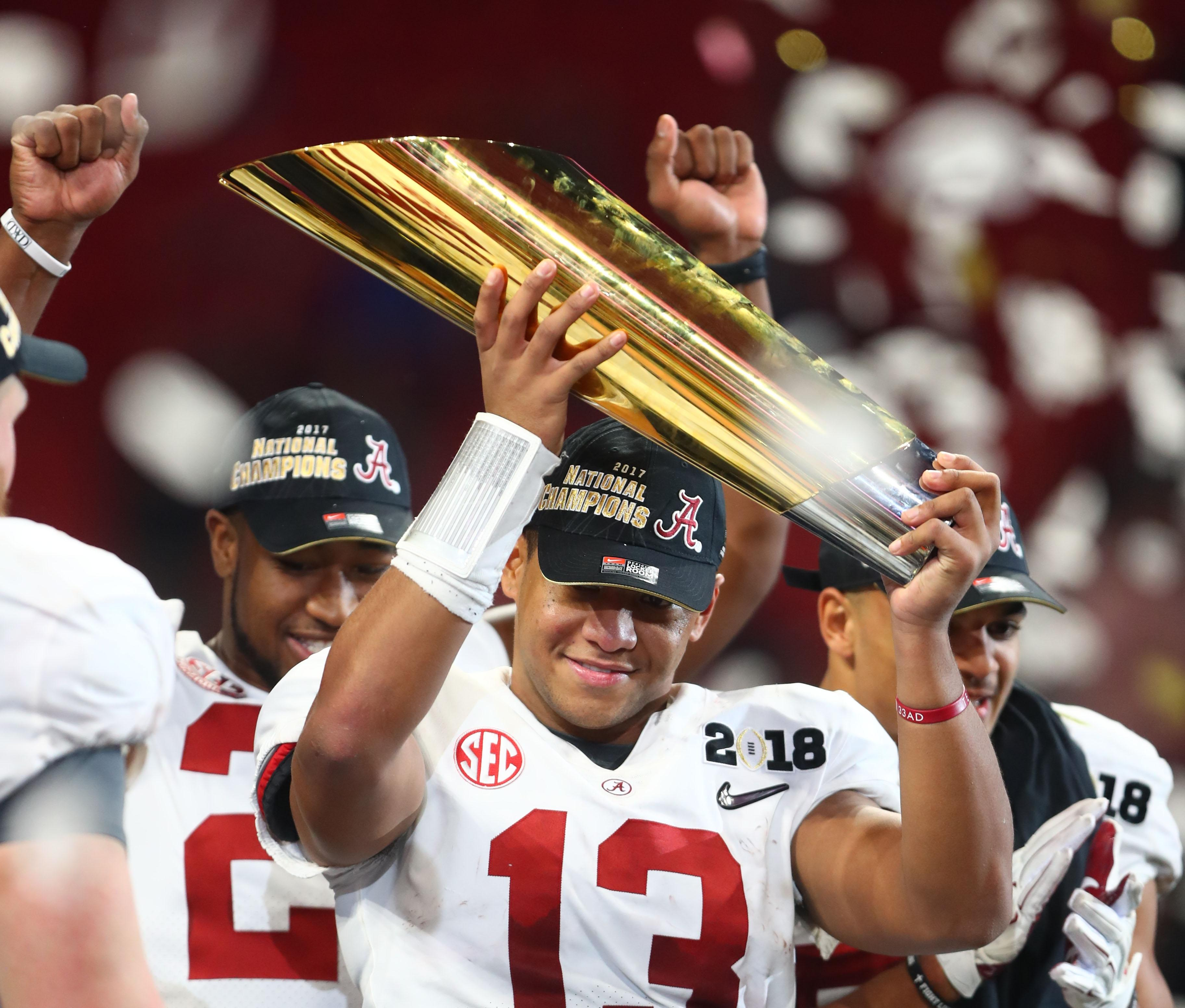 Alabama QB Tua Tagovailoa helped his team make one of the most memorable comebacks of the year in the CFP national championship game against Georgia.