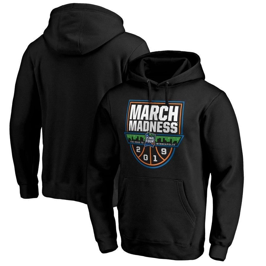 Men's Fanatics Branded Black 2019 NCAA Men's Basketball Tournament March Madness Tip Off Pullover Hoodie