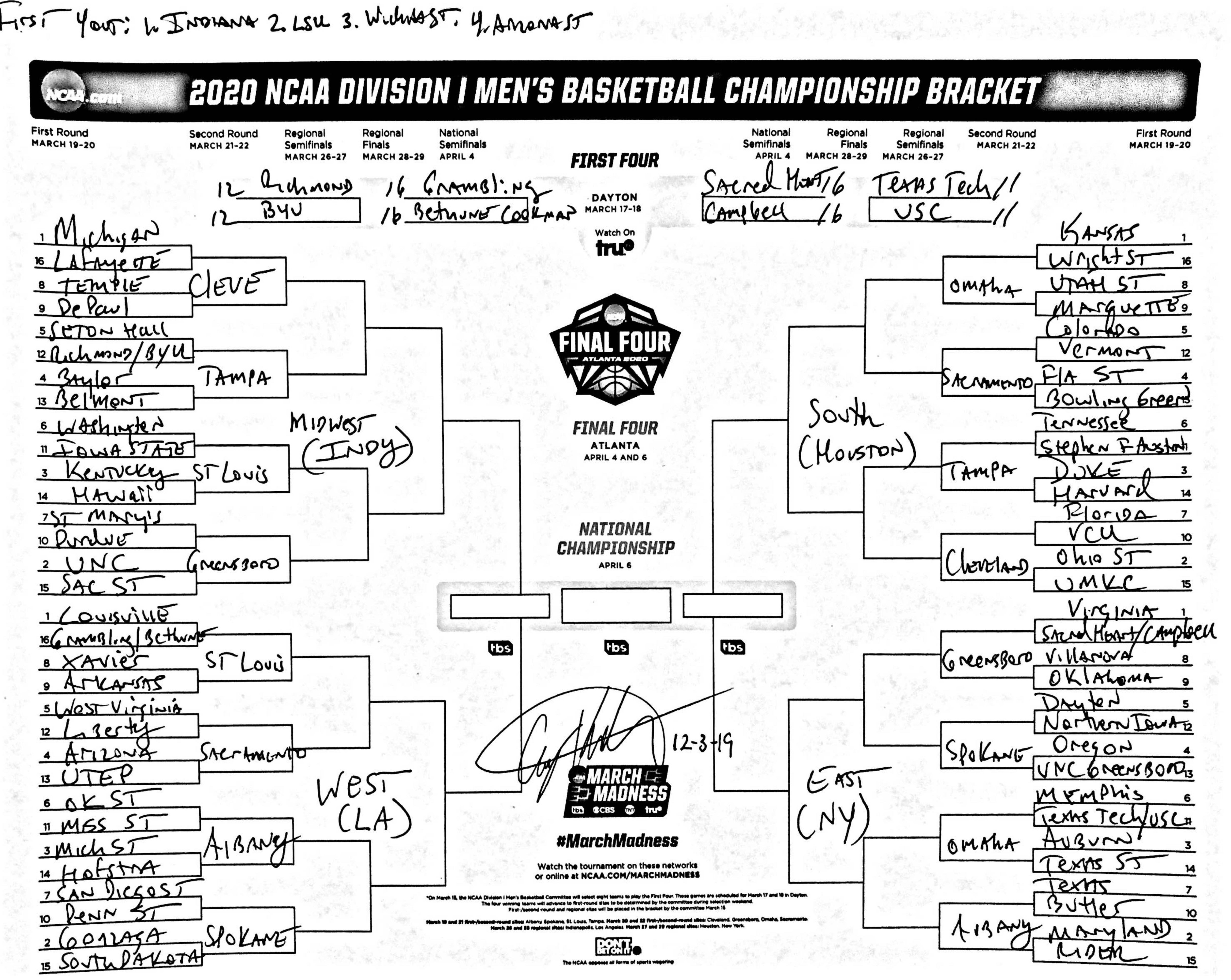 Cbs Selection Show 2020.March Madness Bracketology The Ultimate Guide Ncaa Com
