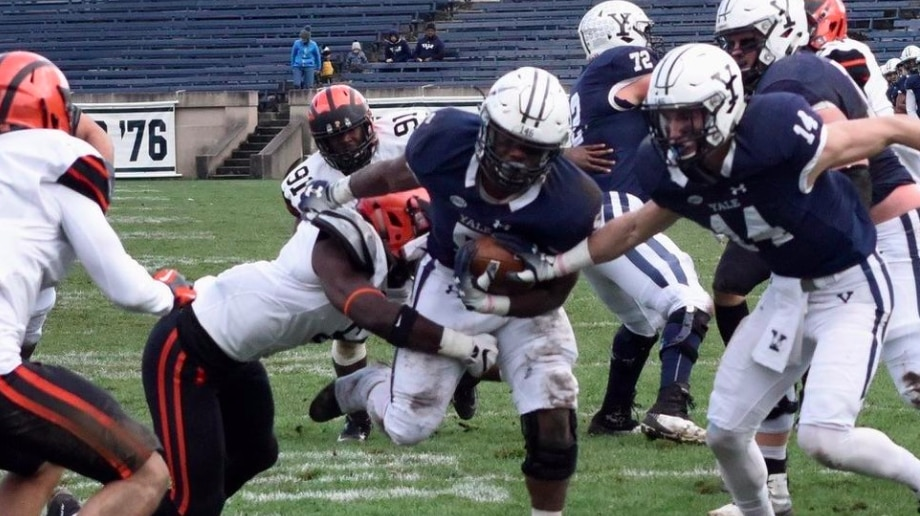 In 2018, Yale fell 59-43 to Princeton.