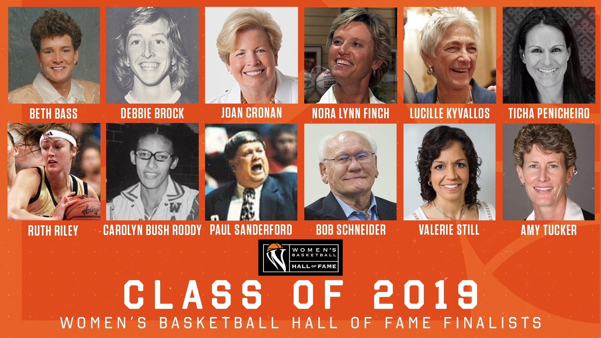 The Women's Basketball Hall of Fame announced its 12 finalists for consideration for induction into its Hall of Fame