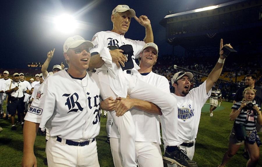 Wayne Graham won the 2003 College World Series with Rice baseball.