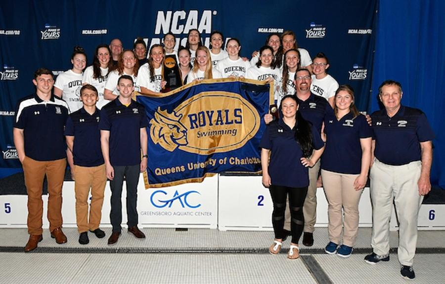 Queens (NC) has won the last four DII women's swimming and diving championships.