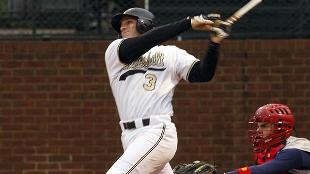 Dominic de la Osa is the career leader in hits, doubles, and RBI for Vanderbilt baseball.