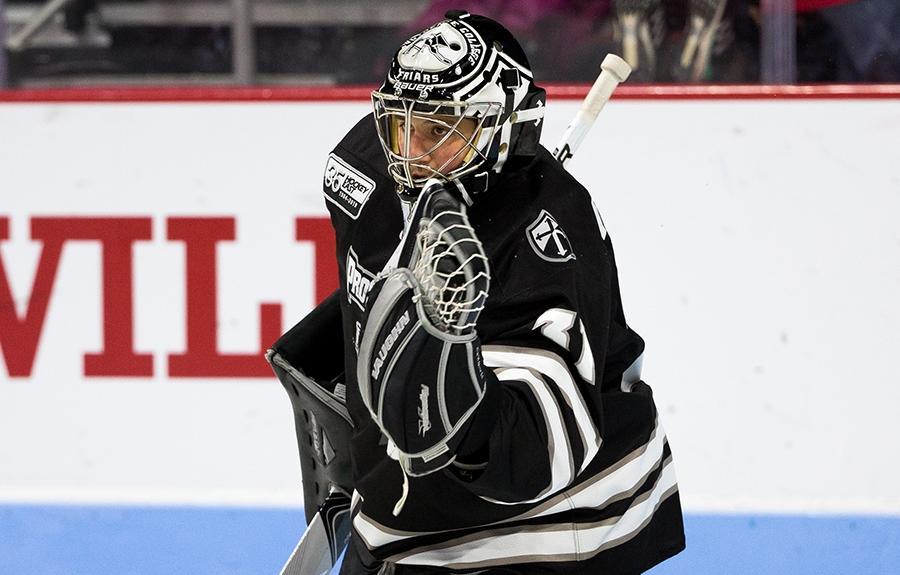 Hayden Hawkey of Providence men's hockey.