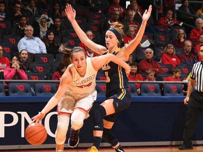 Dayton University's Lauren Cannatelli set a record for free throws
