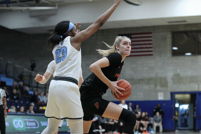 Princeton's Bella Alarie scored 45 points against Columbia on February 1.
