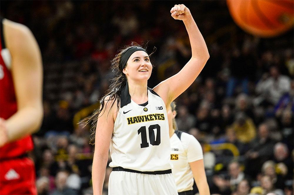 Megan Gustafson is Iowa's career leader in points and rebounds.