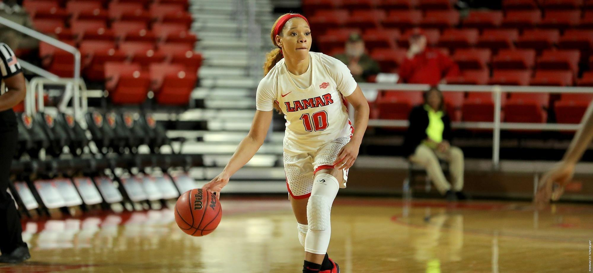 Chastadie Barrs is chasing records for Lamar. She also has the Lady Cardinals undefeated so far in Southland Conference play.
