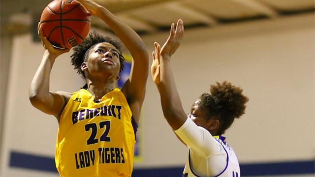 Ay'Anna Bey is averaging a double-double for Benedict.