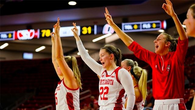 South Dakota in in the women's basketball top 25 for the first time.