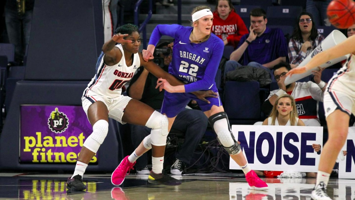 Women S Basketball Scores Byu Upsets No 13 Gonzaga To