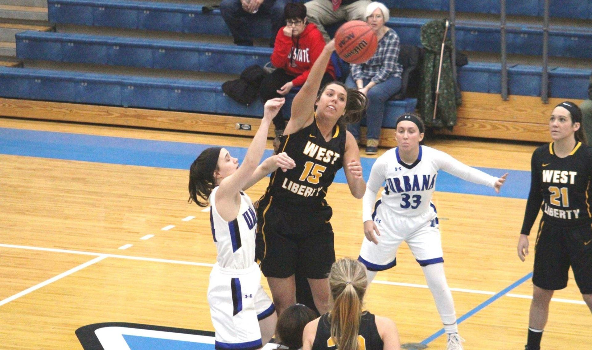 Marissa Brown is amongst DII women's basketball leaders in scoring and rebounding.
