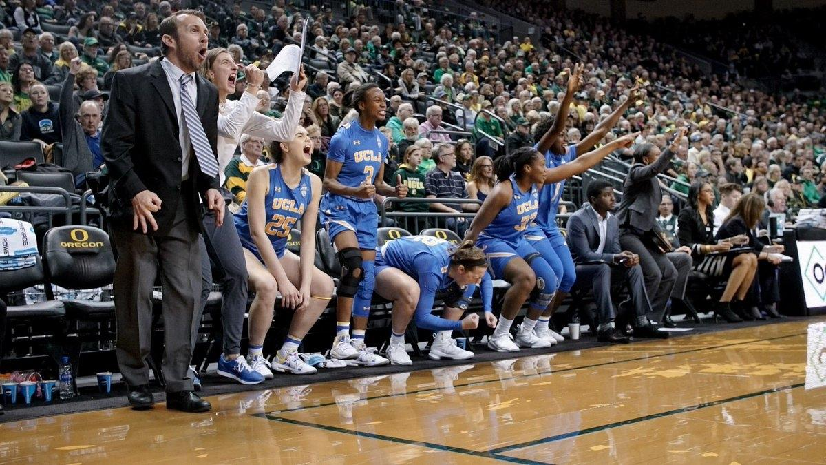 UCLA rallied to upset No. 2 Oregon in women's basketball.