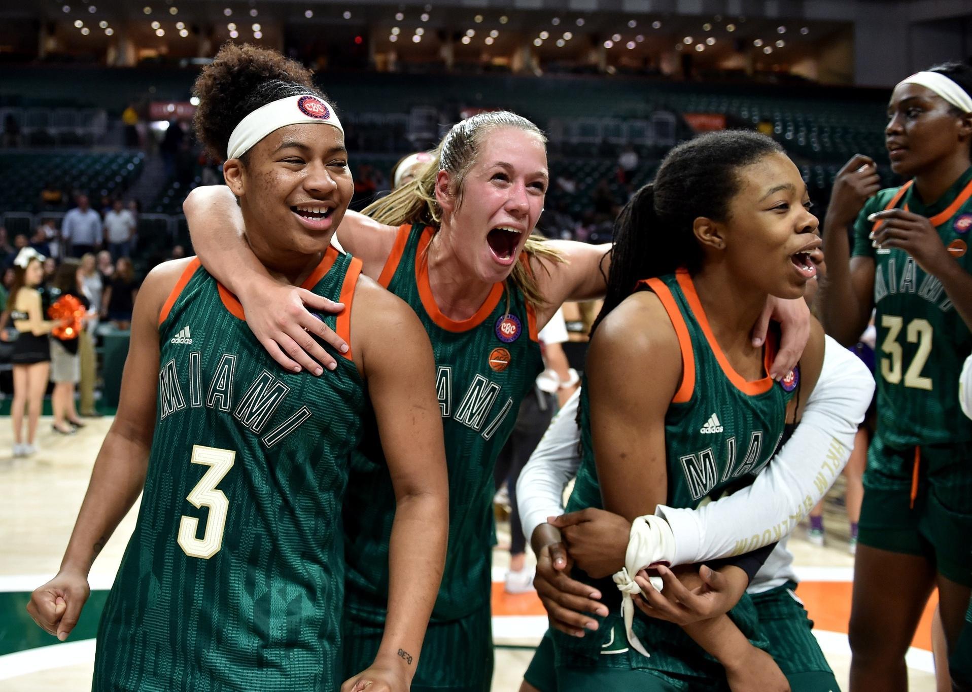 Miami women's basketball team.